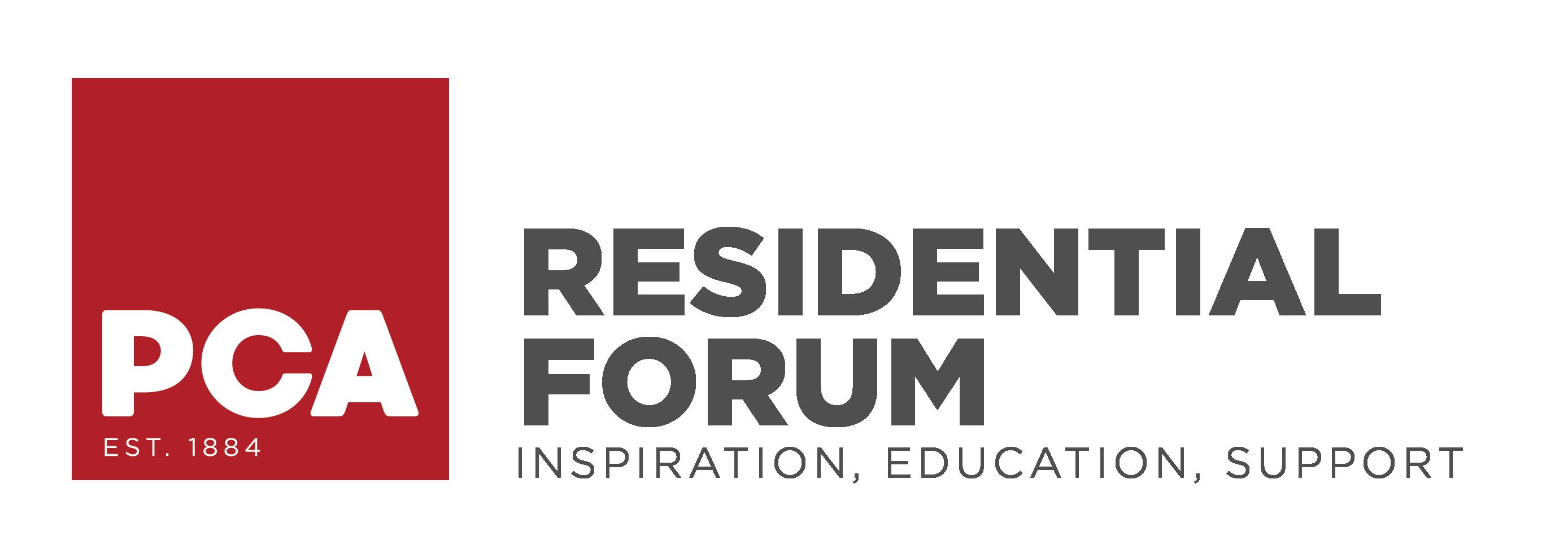 PCA Residential Forum logo