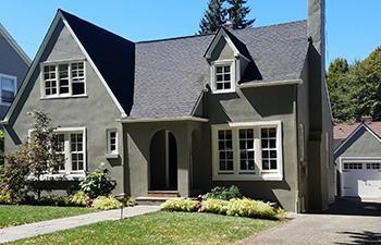 Exterior of gray home