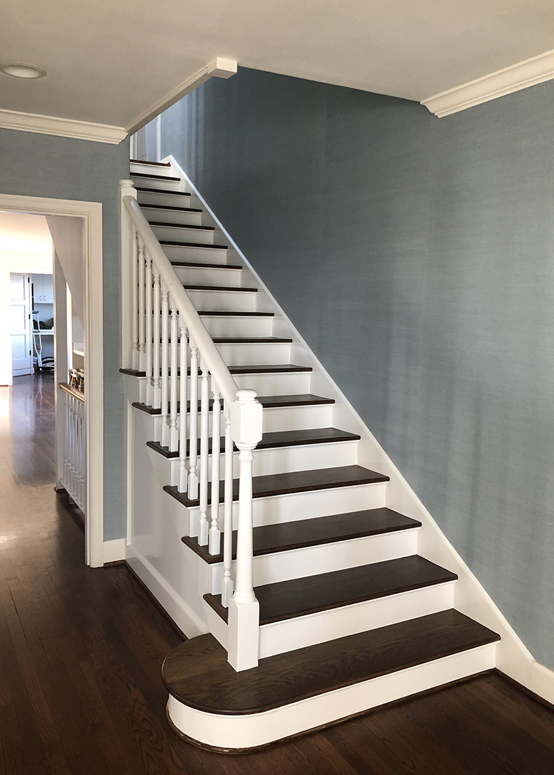 Freshly painted staircase
