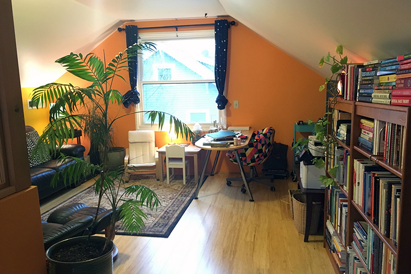 Office with Au Gratin and Nila Vanilla paint