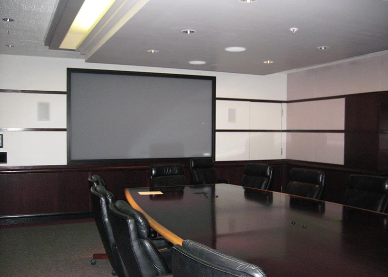 Interior of meeting room freshly painted
