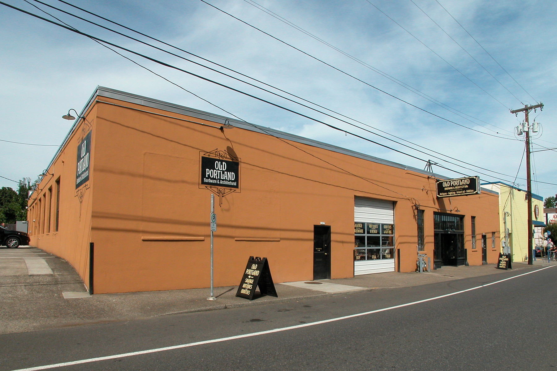 Freshly painted exterior of commercial building